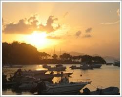 Sunset over Cruz Bay, St John