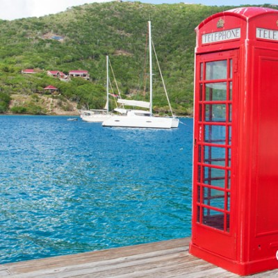 English phone booth, Marina Cay