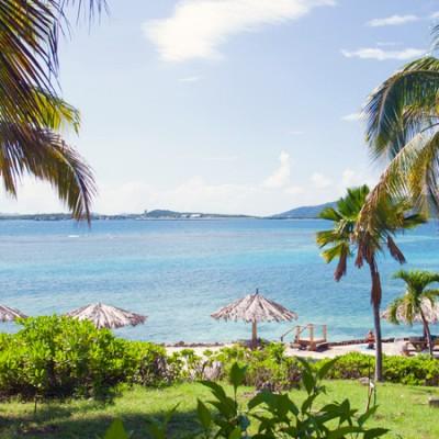 Overlooking Marina Cay reef