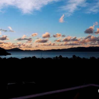 Sunrise from our balcony at Perfect Pineapple, Jost van Dyke