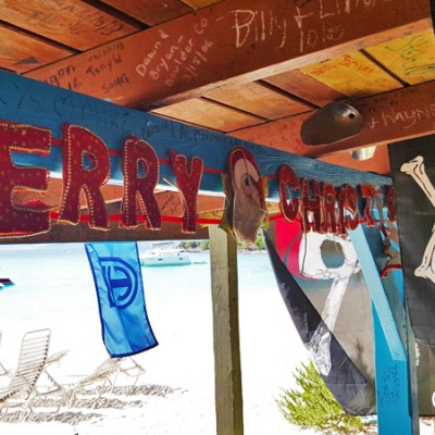 Merry Christmas from Gertrude's, White Bay BVI